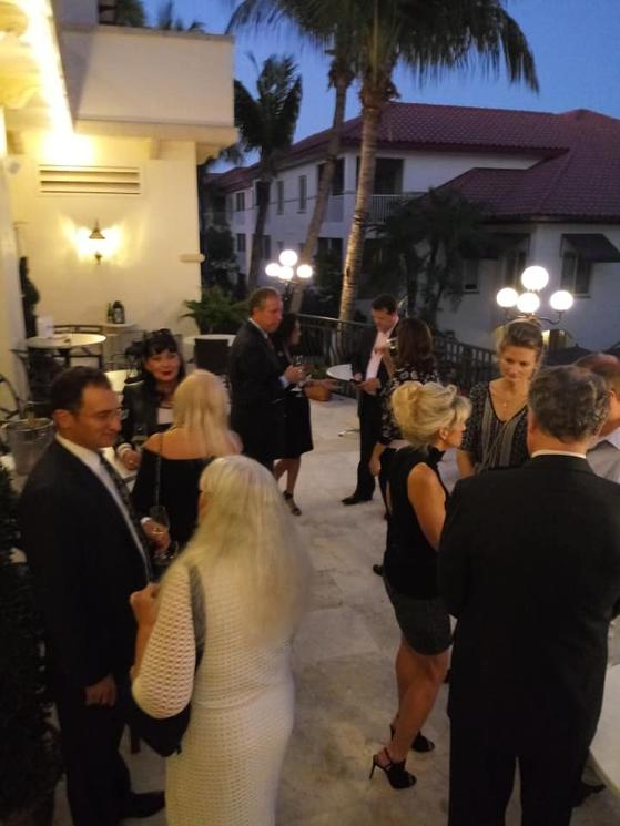 Marc Shapiro and other local notables at a Luxury Chamber Naples event January 2019