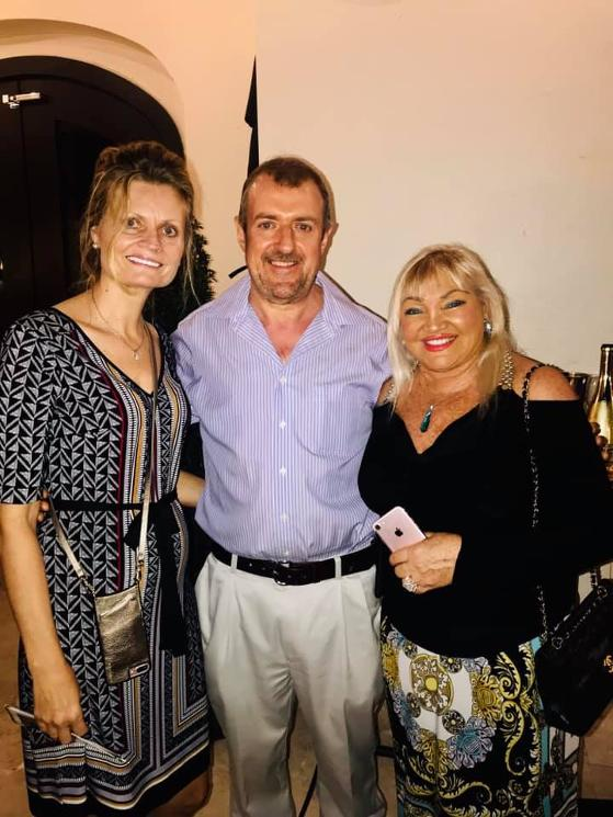 Barry Hoey and Mrs Hoey and guest