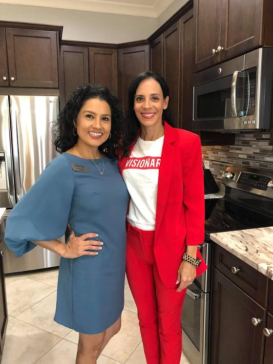 dora ortiz and elissa wallace naples florida luxury experts at luxury chamber naples event